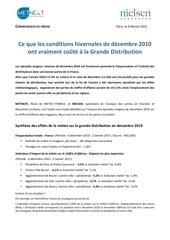 cp metnext analyse impact de froid d c embre 2010 sur la distribution vdf