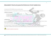 reglement pr les qualifications aux stunt games 2011 1