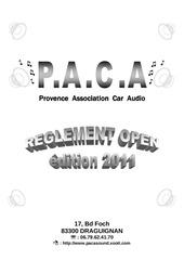 reglement open 2011