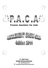 reglement showcar 2011