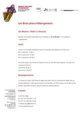 liste hotel worldcup2011