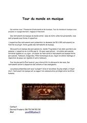 Fichier PDF tour du monde en musique