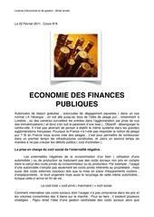 economie des finances publiques n 6