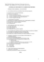 controle et ccordination du mvt