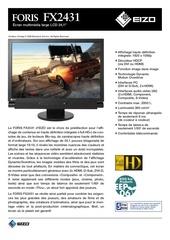 eizo monitor infodecor foris fx2431