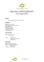 inscription bad company 27 03 2011