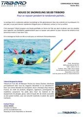 communique de presse bouee de snorkeling sb100 tribord