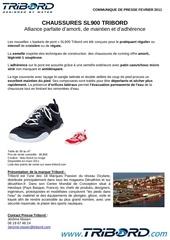 communique de presse chaussures sl900 tribord
