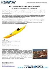 communique de presse kayak rk500 1 tribord