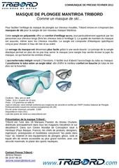 communique de presse masque de plongee mantiroa tribord