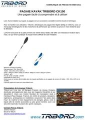 Fichier PDF communique de presse pagaie kayak ck100 tribord