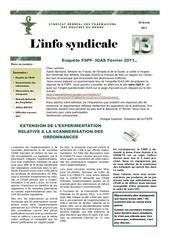 linfo syndicale 8 du 25 fevrier 2011