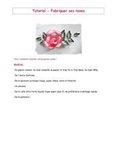 tutoriel comment fabriquer ses roses