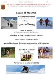 conference montagne le 28 mai 2011
