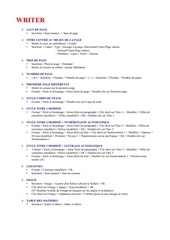 resume informatique
