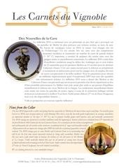 carnet du vignoble