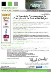 communique presse team auto chrono cap sur le championnat de france des rallyes 2011