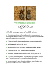 70 precieux conseils