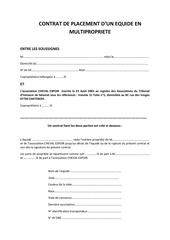 contrat de placement modifie le 13 03 11