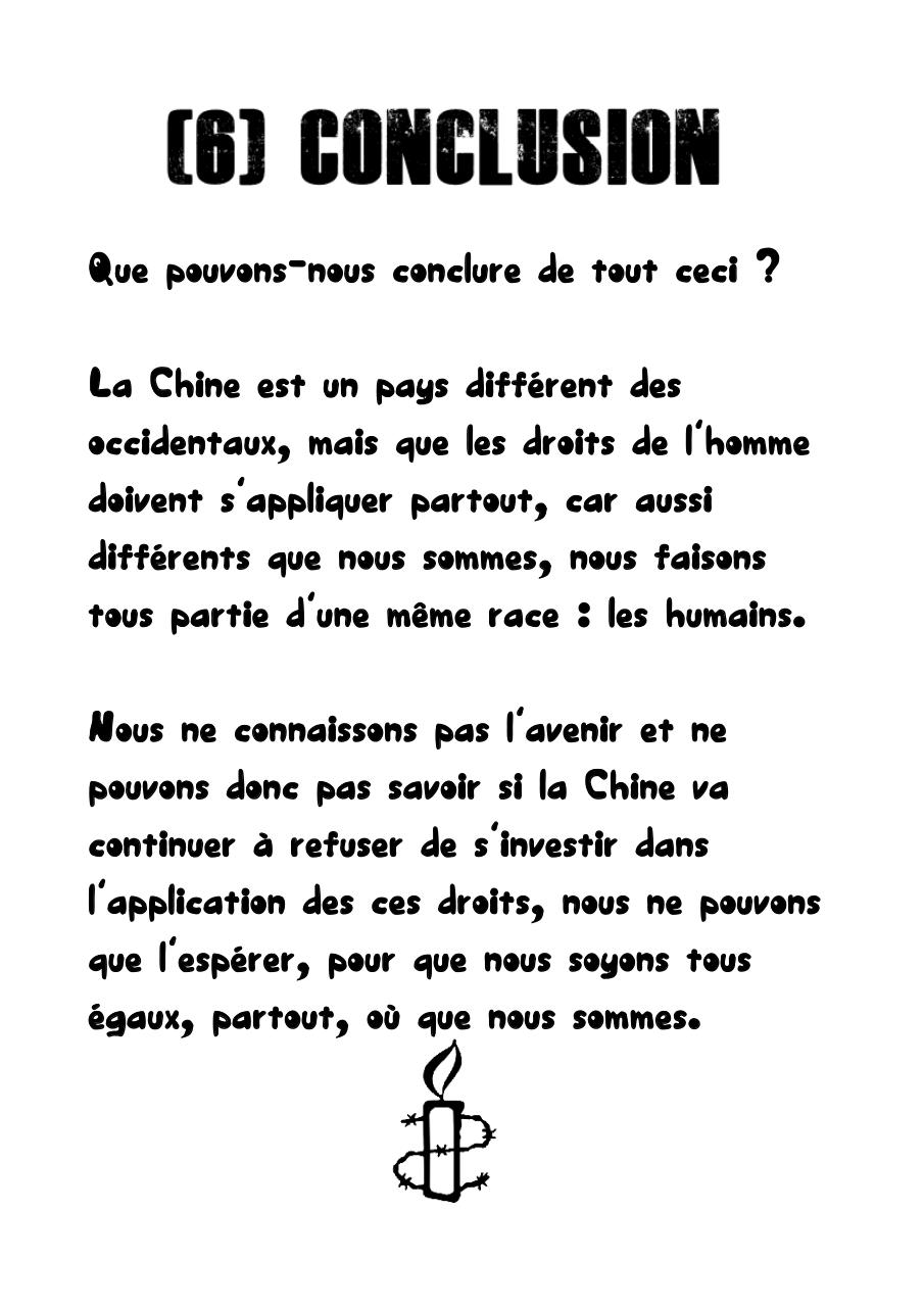 application droits homme chine