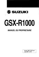 manuel du proprietaire gsx r 1000 k8
