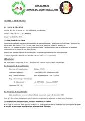 reglement ronde 2011