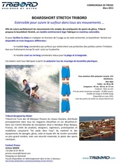 Fichier PDF communique de presse boardshorts stretch tribord