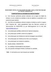 Fichier PDF composition du dossier de selection pour 25000 jeunes diplomes