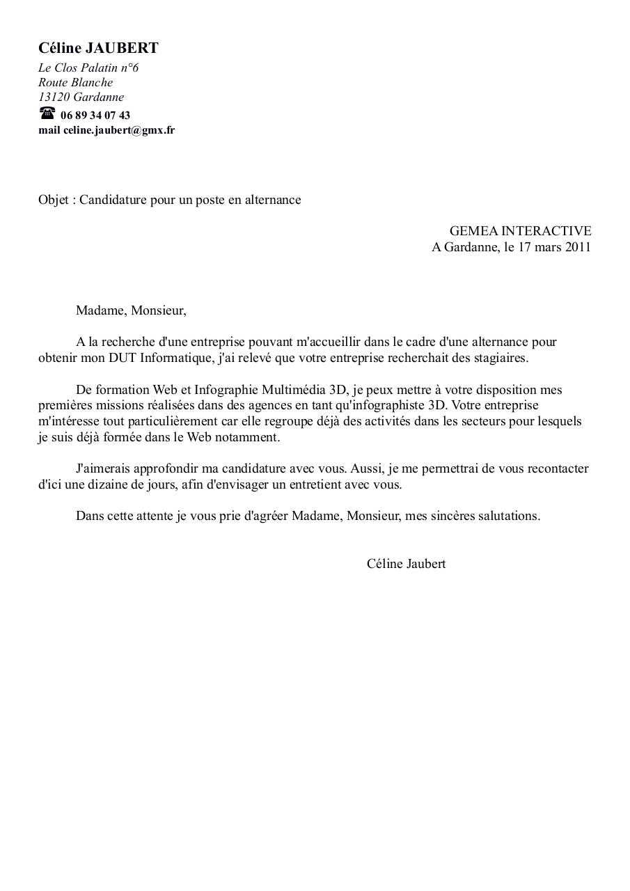 Lettre Motivation Par Rene Fichier Pdf