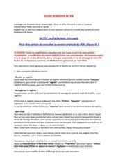 tutoriel windows 7