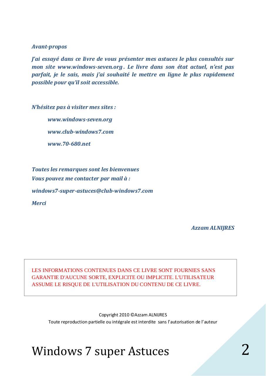 Windows 7 Super Astuces.pdf - page 2/200