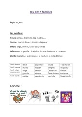 Fichier PDF jeu des 5 familles chieuse