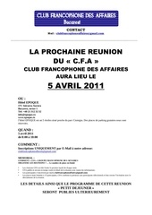 cfa reunion info