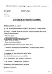 p2 biopatho cancers et microenvironnement 1603