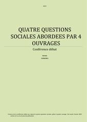 quatre questions sociales abordees par 4 ouvrages