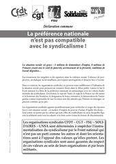 Fichier PDF preference nationale pas compatible avec le syndicalisme