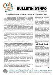 bulletin d info n 1