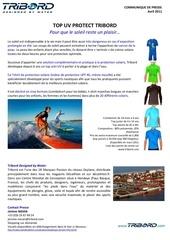 communique de presse top uv protect tribord