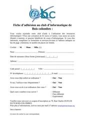 fiche d inscription pdf