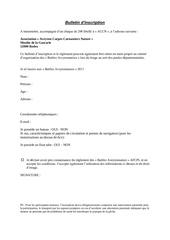 bulletin d incription 1