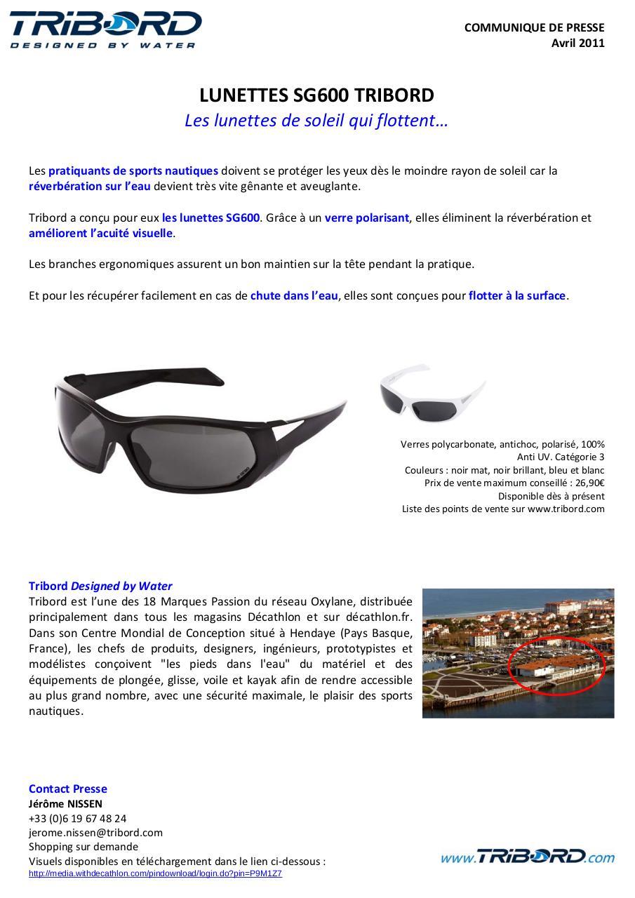 5be921cc1a6cea par Lunettes COMMUNIQUE PRESSE jnisse04 SG600 doc Tribord DE x1wzEw7qY