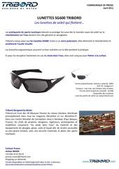 communique de presse lunettes sg600 tribord