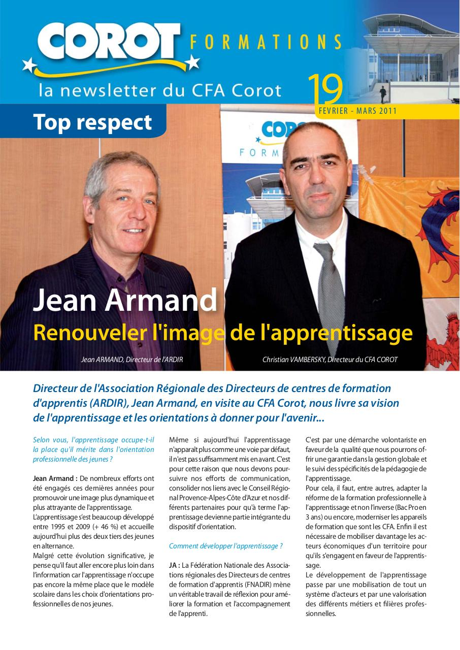 Aperçu du document NEWSLETTER Corot fevrier mars 2011.pdf - page 1/4