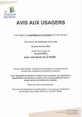 avis aus usagers mars 2011