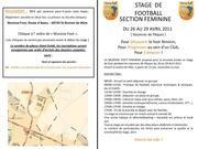fiche d inscription stage 2011