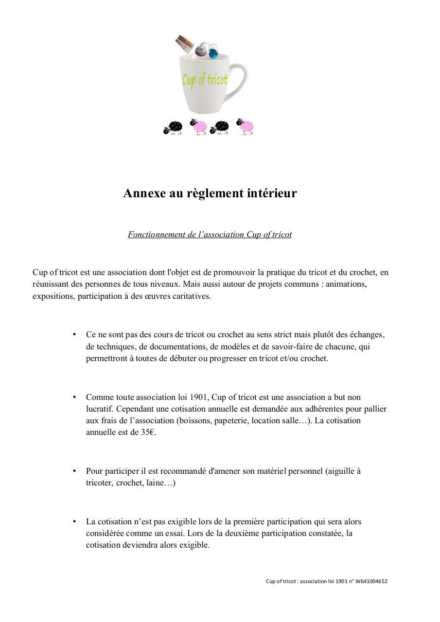 annexe au reglement interieur pdf par laetty fichier pdf