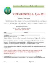 Fichier PDF vide grenier inscription juin 2011