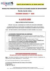 Fichier PDF examen 1er dan du 76