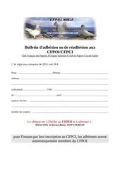 bulletin d adhesion 2011