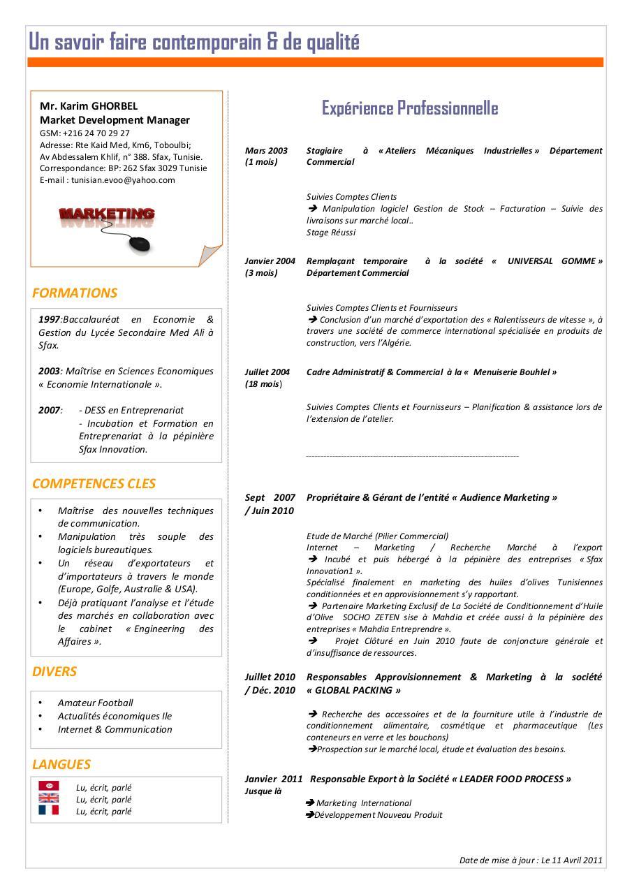 cv karim par karim - karim ghorbel pdf